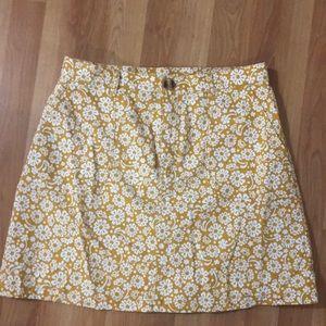 Monki Floral Cotton Skirt 42
